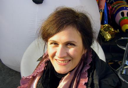 la compositrice italienne Lara Morciano, photo de Bertrand Bolognesi, 2009