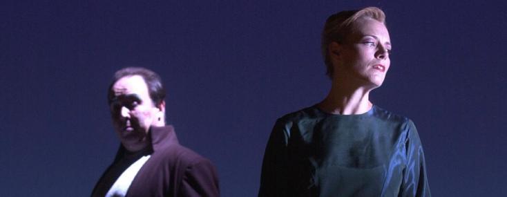 Mireille Delunsch et Keith Lewis dans Lohengrin (Wagner), par Giuseppe Frigeni