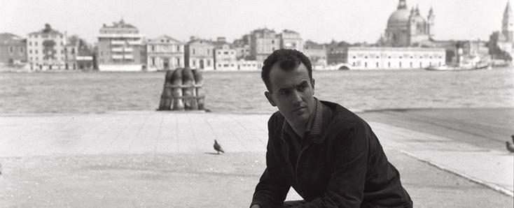 Le compositeur italien Luigi Nono, photographié à Venise