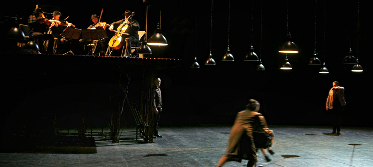 spectacle de Philippe Delaigue et du Quatuor Debussy