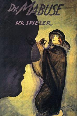 """L'affiche du célèbre film de Fritz Lang, """"Doctor Mabuse der Spieler"""", 1922"""