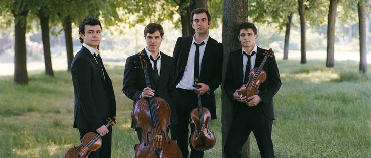 Carole Bellaiche photographie le Quatuor Modigliani