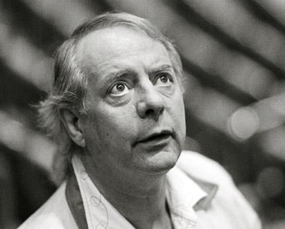 le compositeur allemand Karlheinz Stockhausen (1928-2007)